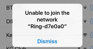 Ring won't connect wifi
