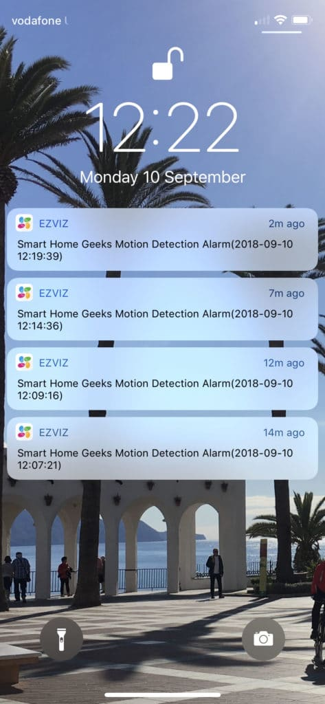 ezviz c2c mini o notifications